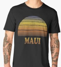 Vintage Maui Sunset Shirt Men's Premium T-Shirt