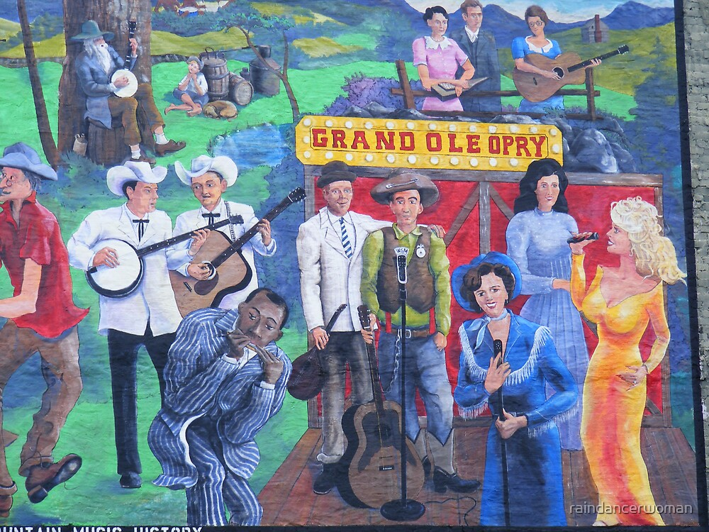 Mural on building wall by raindancerwoman
