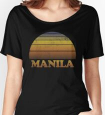 Vintage Manila Sunset Shirt Women's Relaxed Fit T-Shirt