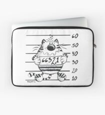Cool Wanted Cat - Prison Kitty Laptop Sleeve