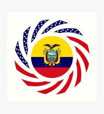 Ecuadorian American Multinational Patriot Flag Series (Asencio Edition) Art Print