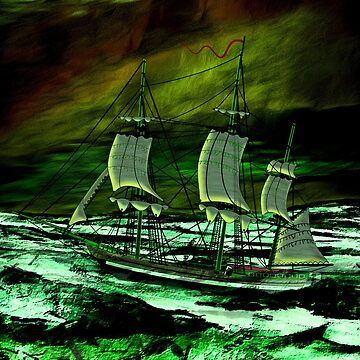 Sailing in the Open Oceans is When Visions are Made - a 19th century Sailing Ship With a Long Way to Reach Port by ZipaC