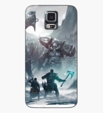 Kratos and Atreus fighting a Troll Case/Skin for Samsung Galaxy
