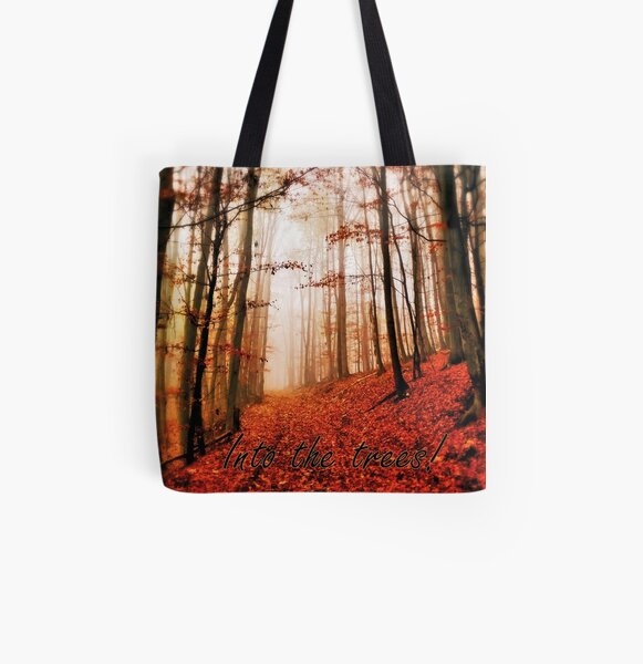Into the trees Allover-Print Tote Bag