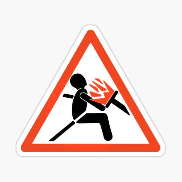 Panneau d/'avertissement drôle airbag contrôle de sécurité sticker adhésif