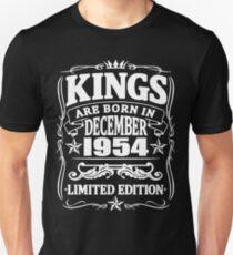 Kings are born in december 1954 Unisex T-Shirt