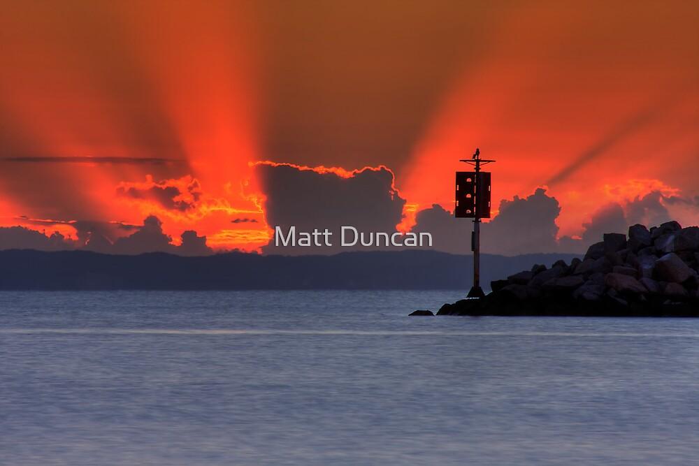 Dawn on the bay by Matt Duncan