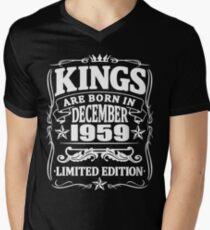 Kings are born in december 1959 Men's V-Neck T-Shirt