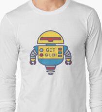 """""""GIT GUD!"""" classic robot Long Sleeve T-Shirt"""