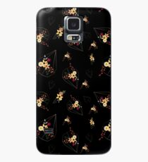 Floral Bouquet with golden geometric shape pattern Case/Skin for Samsung Galaxy