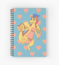 Lady Lovely Locks - Mama dragon Spiral Notebook