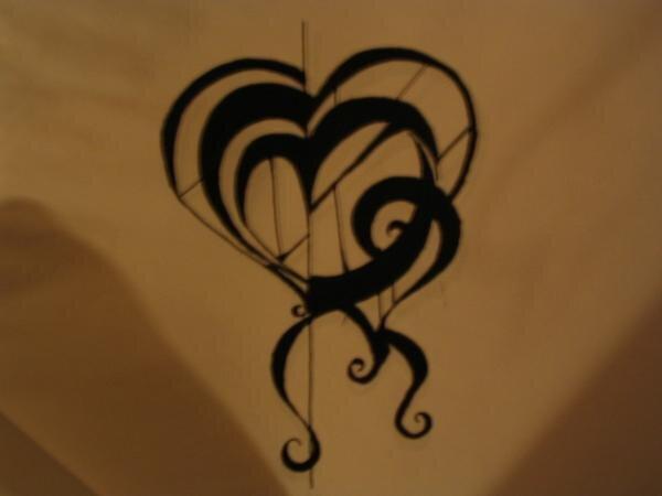 Black Dr. Suess Heart by K C