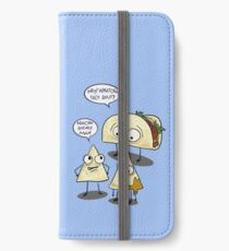 Whatcha taco bout- Funny food pun iPhone Wallet/Case/Skin