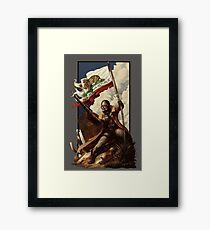 Fallout NCR Ranger Flag Fan Art Poster Framed Print