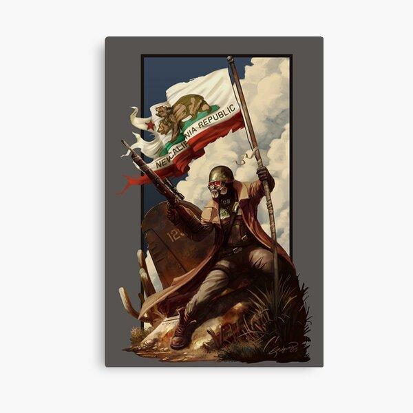 Fallout NCR Ranger Flag Fan Art Poster Canvas Print