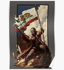 Fallout NCR Ranger Flag Fan Art Poster Poster