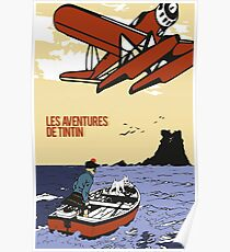 "Tintin ""The Black Island"" Poster Poster"