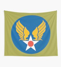 US Army Air Corps Hap Arnold Wings Wall Tapestry
