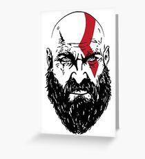 Kratos Greeting Card