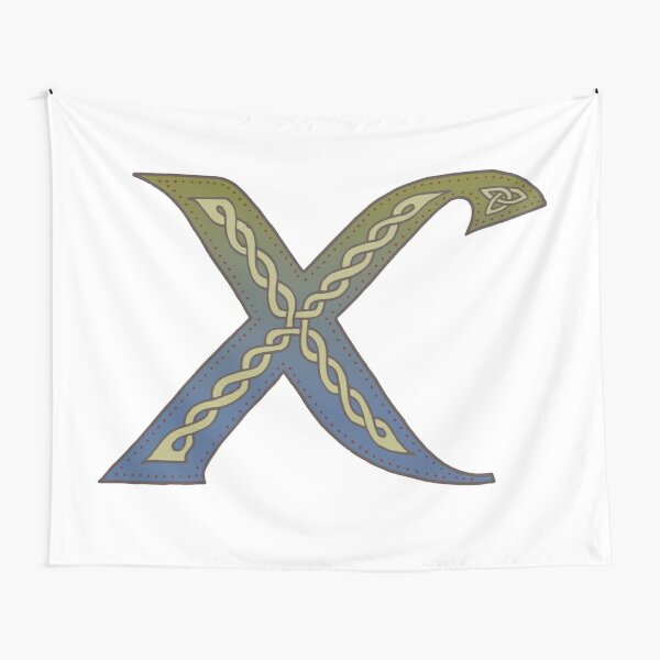 Celtic Knotwork Alphabet - Letter X Tapestry