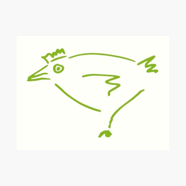 The Secret Chicken Art Print