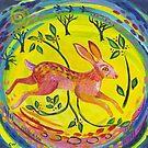 Spring Hare Leaps For Joy by ClareWassermann