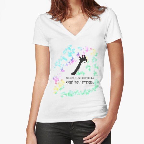 FREDDIE MERCURY QUEEN FRASE LEYENDA Camiseta entallada de cuello en V