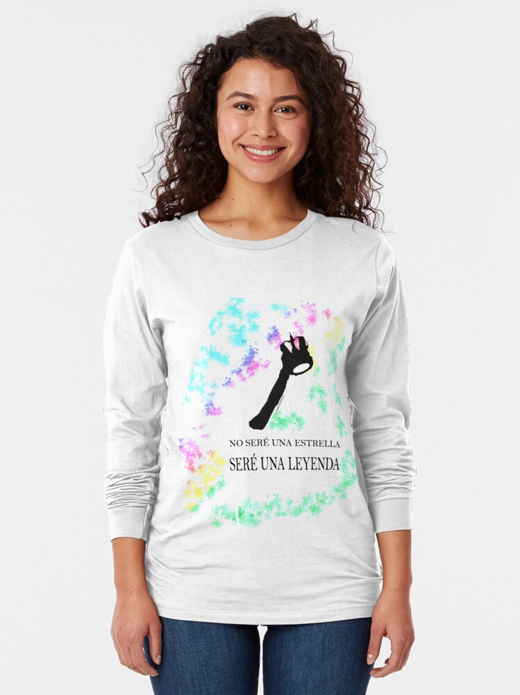 Vista alternativa de Camiseta de manga larga FREDDIE MERCURY QUEEN FRASE LEYENDA