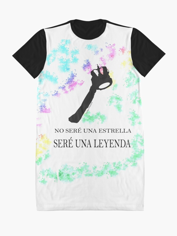 Vista alternativa de Vestido camiseta FREDDIE MERCURY QUEEN FRASE LEYENDA