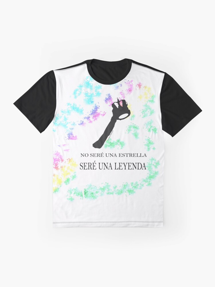 Vista alternativa de Camiseta gráfica FREDDIE MERCURY QUEEN FRASE LEYENDA