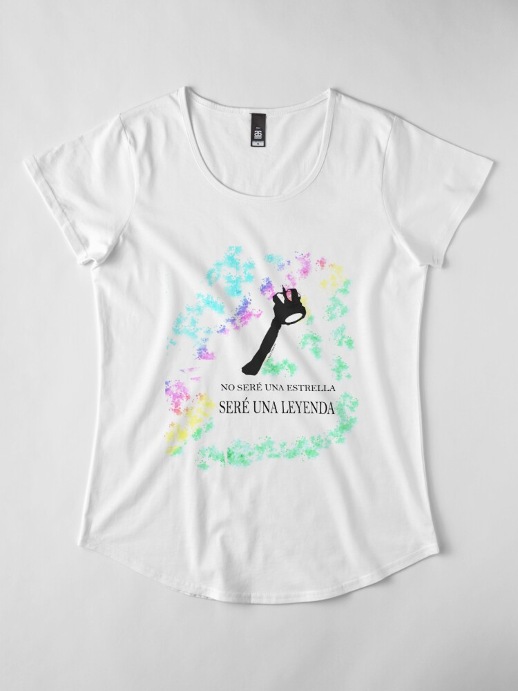 Vista alternativa de Camiseta premium de cuello ancho FREDDIE MERCURY QUEEN FRASE LEYENDA