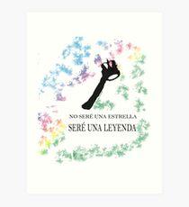 FREDDIE MERCURY QUEEN FRASE LEYENDA Lámina artística