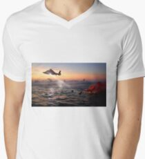 Helicopter Coast Guard Rescue Men's V-Neck T-Shirt
