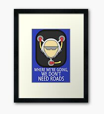 Doc Brown Back to the future Framed Print