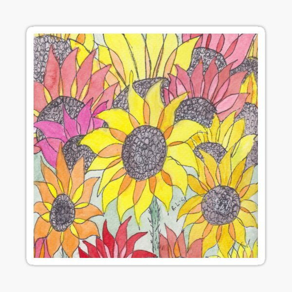 Sunshine Sunflowers  Sticker