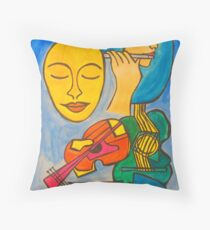 Playing Blue Throw Pillow