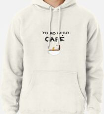 YO NO BEBO CAFÉ ME BAÑO EN ÉL Sudadera con capucha