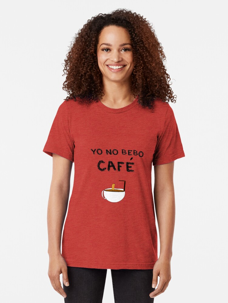 Vista alternativa de Camiseta de tejido mixto YO NO BEBO CAFÉ ME BAÑO EN ÉL