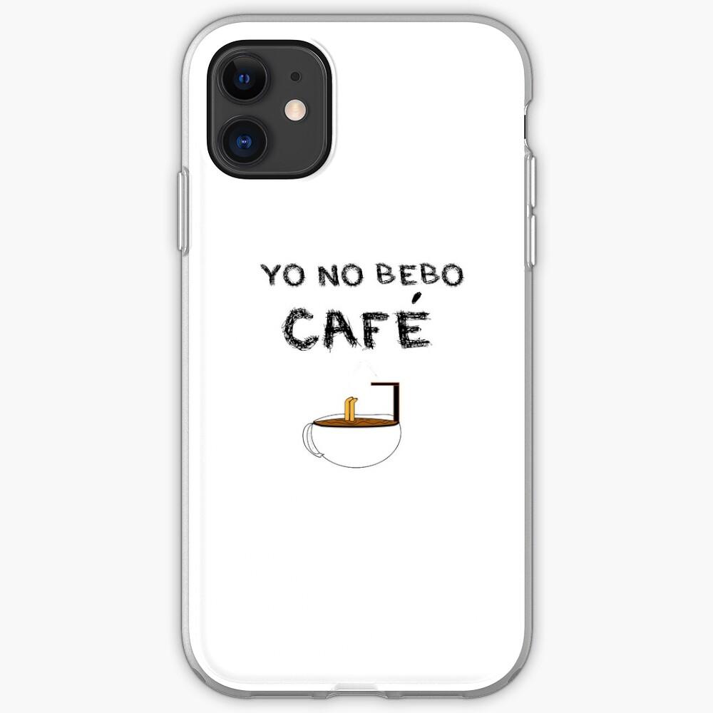 YO NO BEBO CAFÉ ME BAÑO EN ÉL Funda y vinilo para iPhone