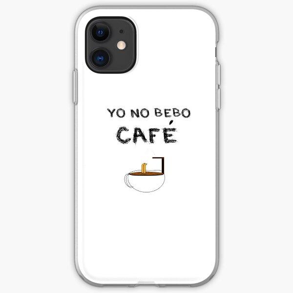 YO NO BEBO CAFÉ ME BAÑO EN ÉL Funda blanda para iPhone