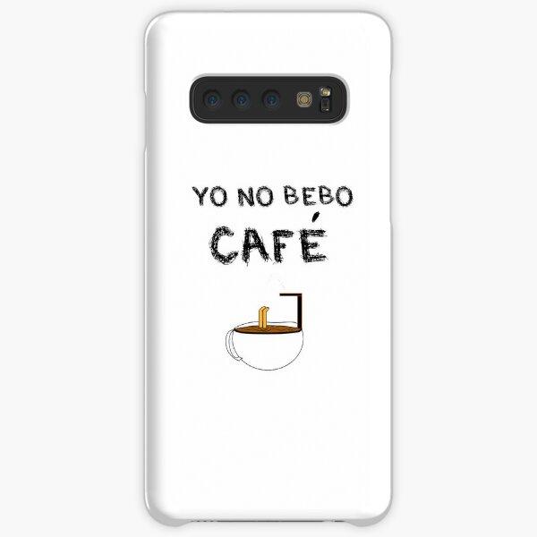 YO NO BEBO CAFÉ ME BAÑO EN ÉL Funda rígida para Samsung Galaxy