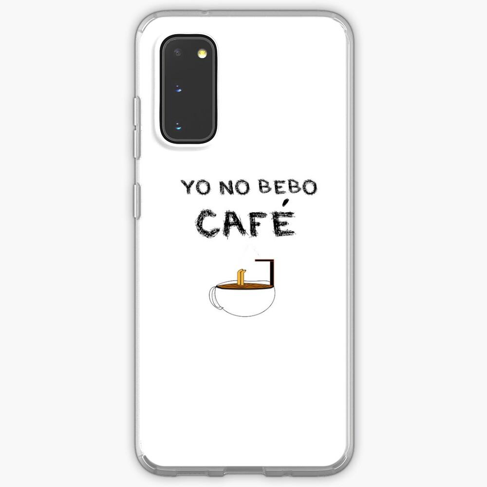 YO NO BEBO CAFÉ ME BAÑO EN ÉL Funda y vinilo para Samsung Galaxy