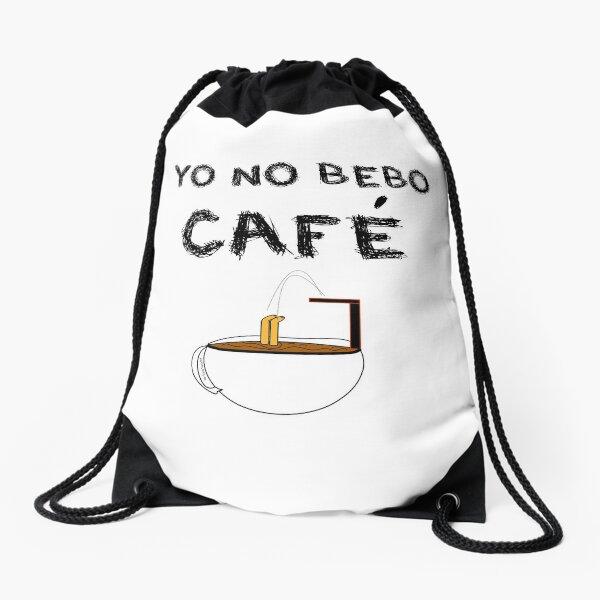 YO NO BEBO CAFÉ ME BAÑO EN ÉL Mochila saco