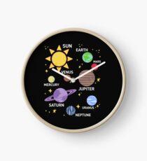 Reloj camisa del sistema solar para mujer, planetas, sol y planetas, estrella y planeta, espacio exterior, todos los planetas, sistema solar, sistema planetario, heliocéntrico