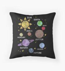 Cojín de suelo camisa del sistema solar para mujer, vintage, sol y planetas, estrella y planeta, espacio exterior, todos los planetas, sistema solar, sistema planetario, heliocéntrico