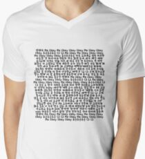 Twice Likey Lyrics Shirt Men's V-Neck T-Shirt