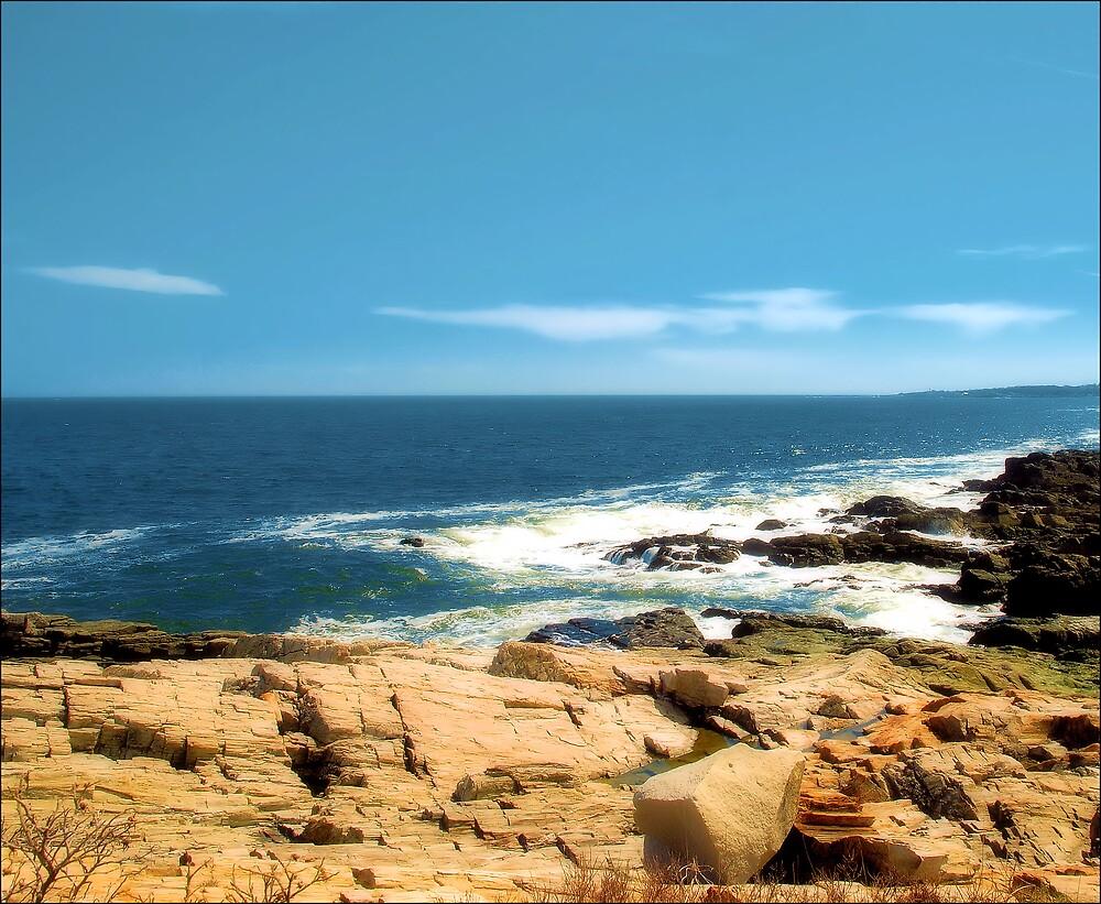Rocks & the Sea by Donnie Shackleford