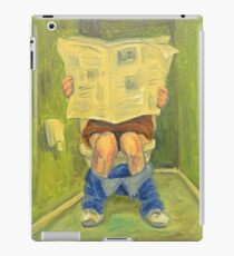 On the toilet iPad Case/Skin