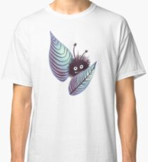 Cute Hairy Creature Hidden In Leaves   Digital Art Classic T-Shirt
