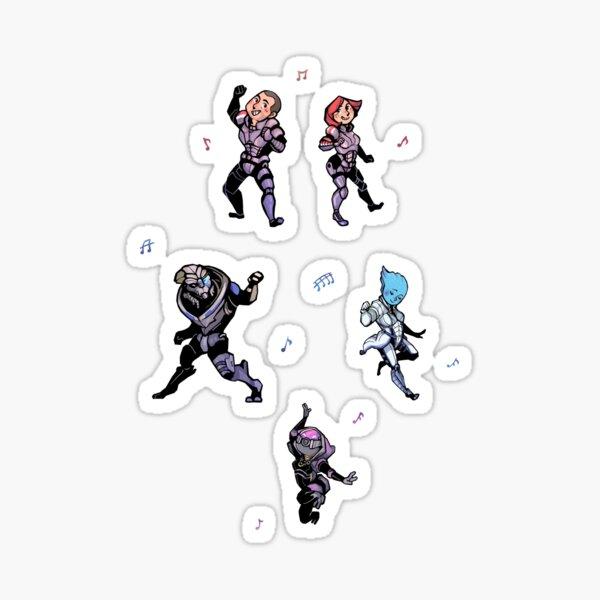 Fête de danse Mass Effect Sticker
